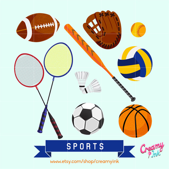 Game clipart athletic game. Sports digital vector clip