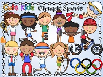 Olympics clipart kid. Olympic sports cute kids
