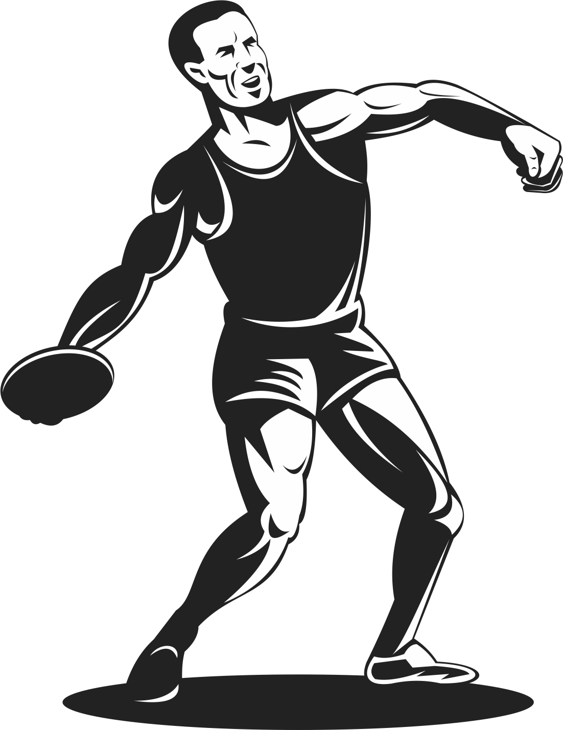 Throw athlete track and. Sports clipart discus