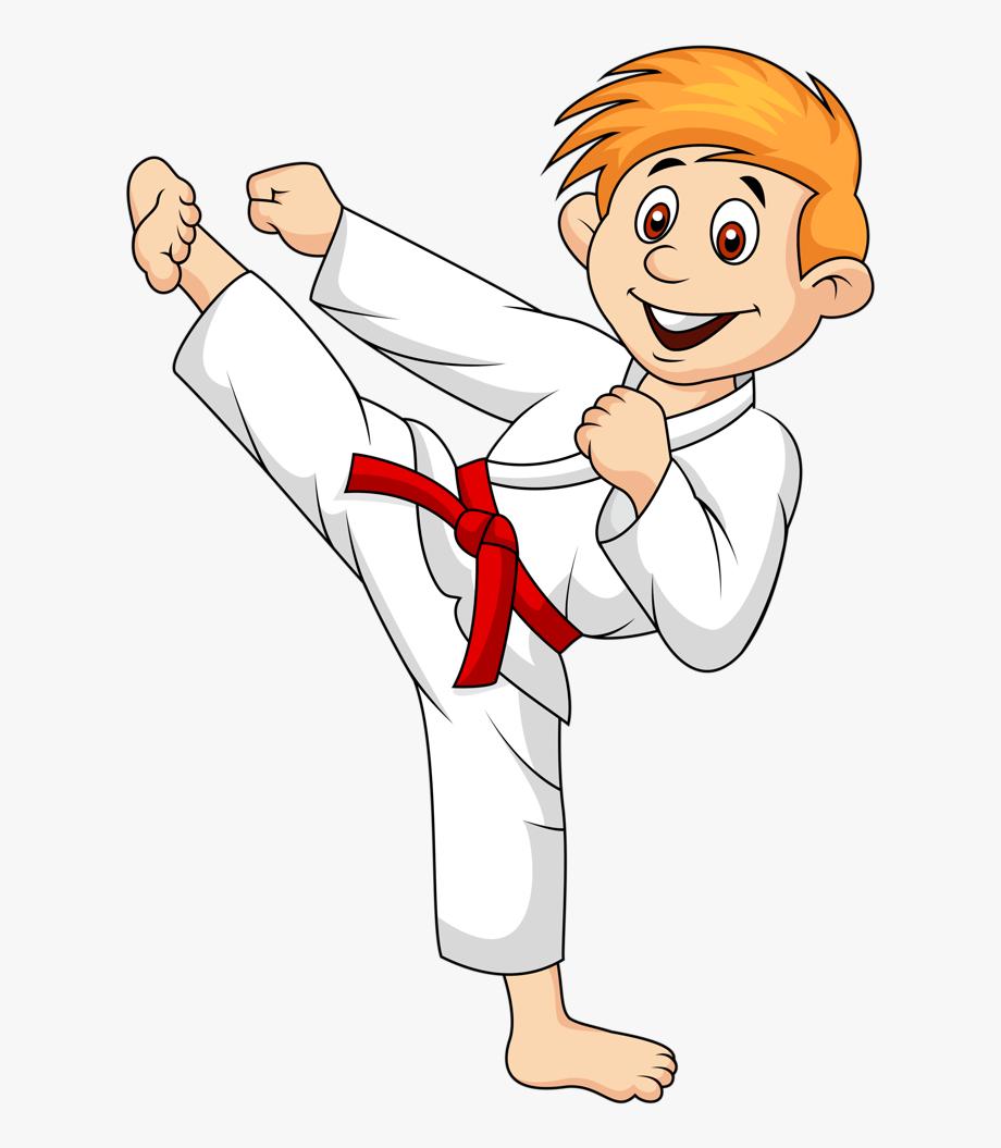 Karate clipart individual sport. Do cartoon