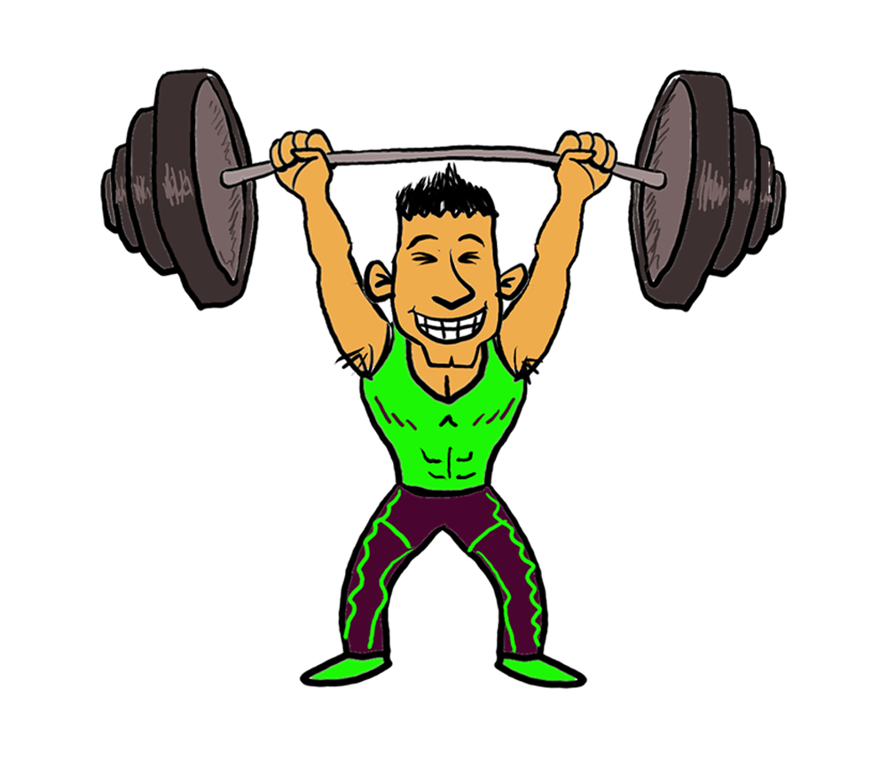 Young clipart heavy light.  cartoon weightlifter sports