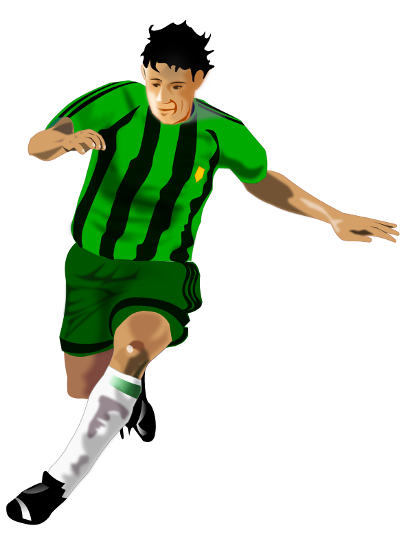 Free soccer player download. Kickball clipart soce