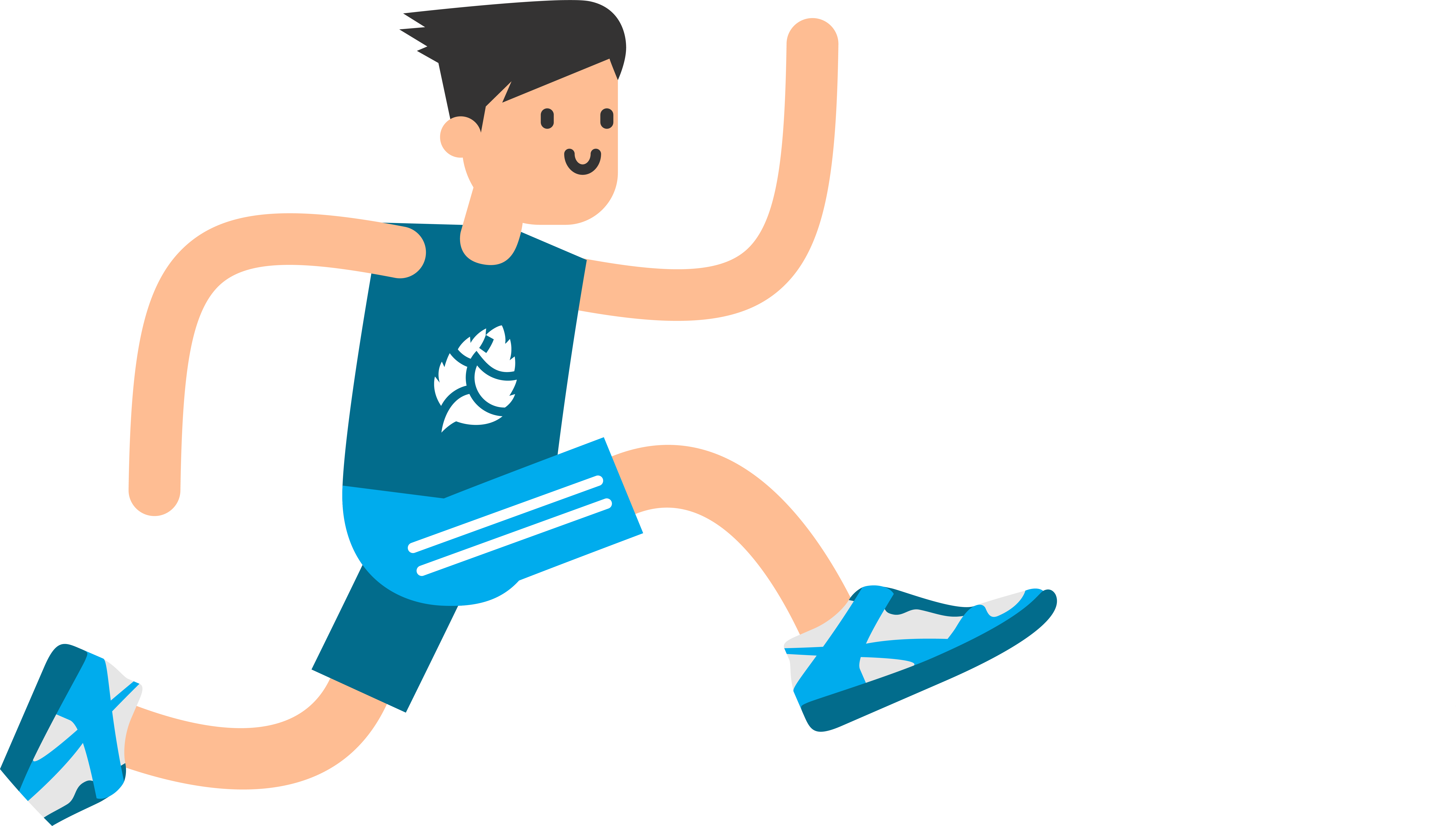 Jumping clipart athletic person. Running boy transprent png
