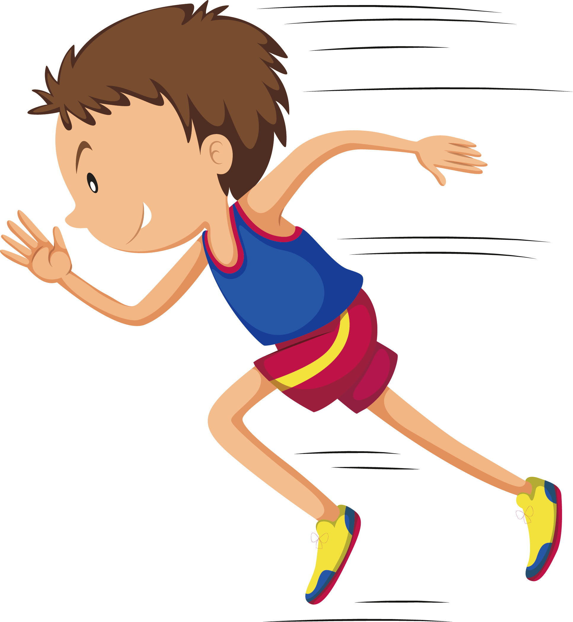 Linear motion running momentum. Jumping clipart athletic person