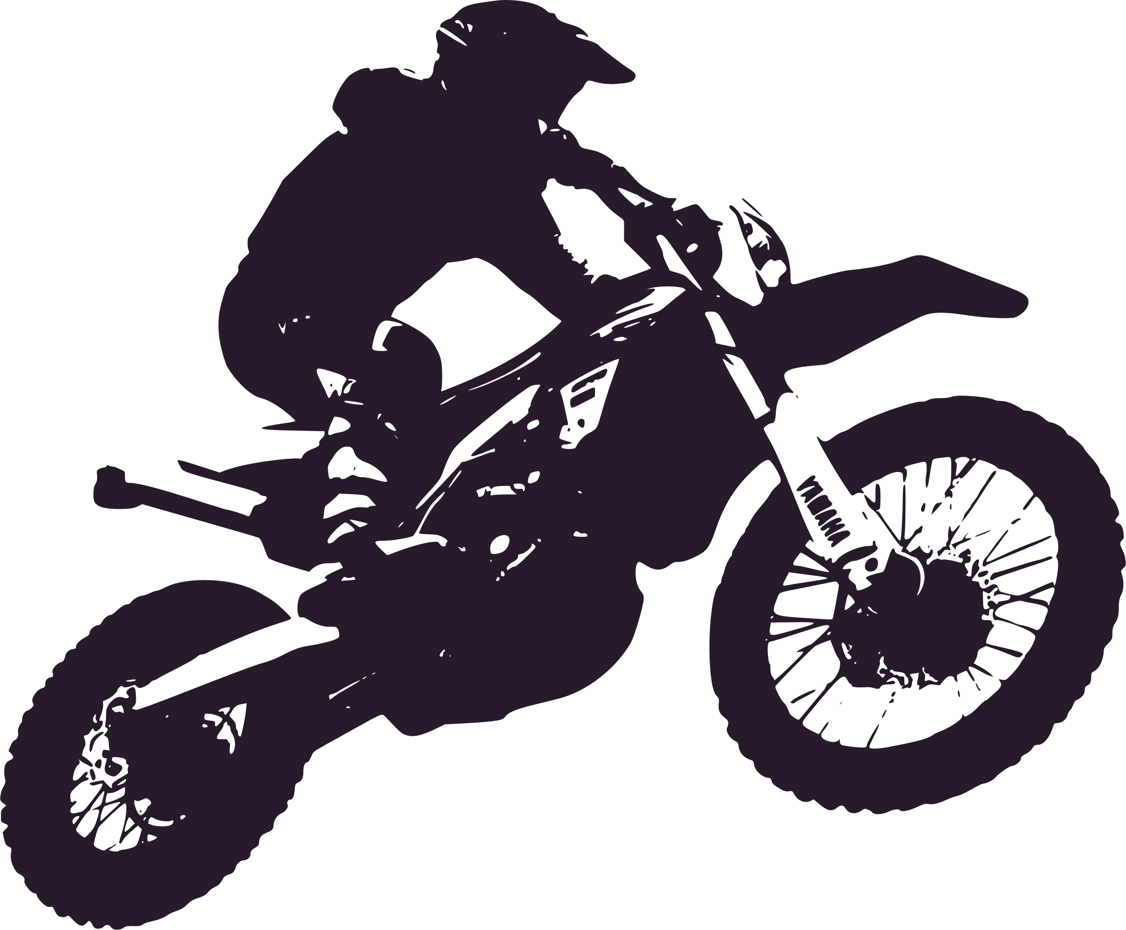 Motorbike enduro big image. Motorcycle clipart silhouette