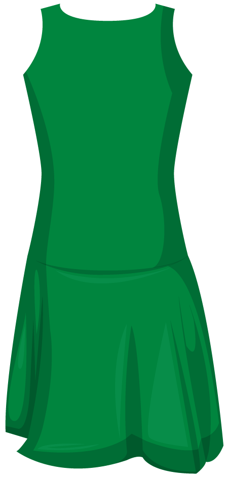 Clothing clipart green clothes.  piece leotard netball