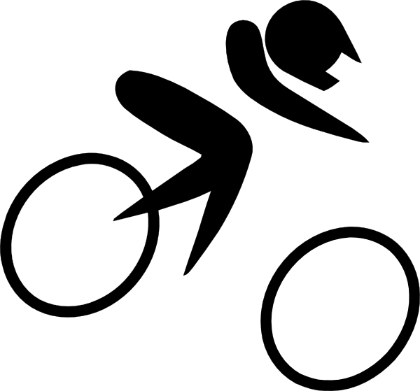 Olympic sports cycling bmx. Location clipart pictogram