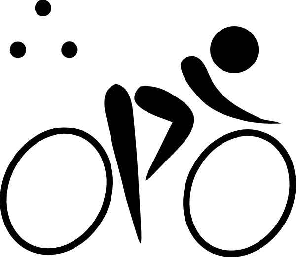 Olympic sports triathlon clip. Location clipart pictogram