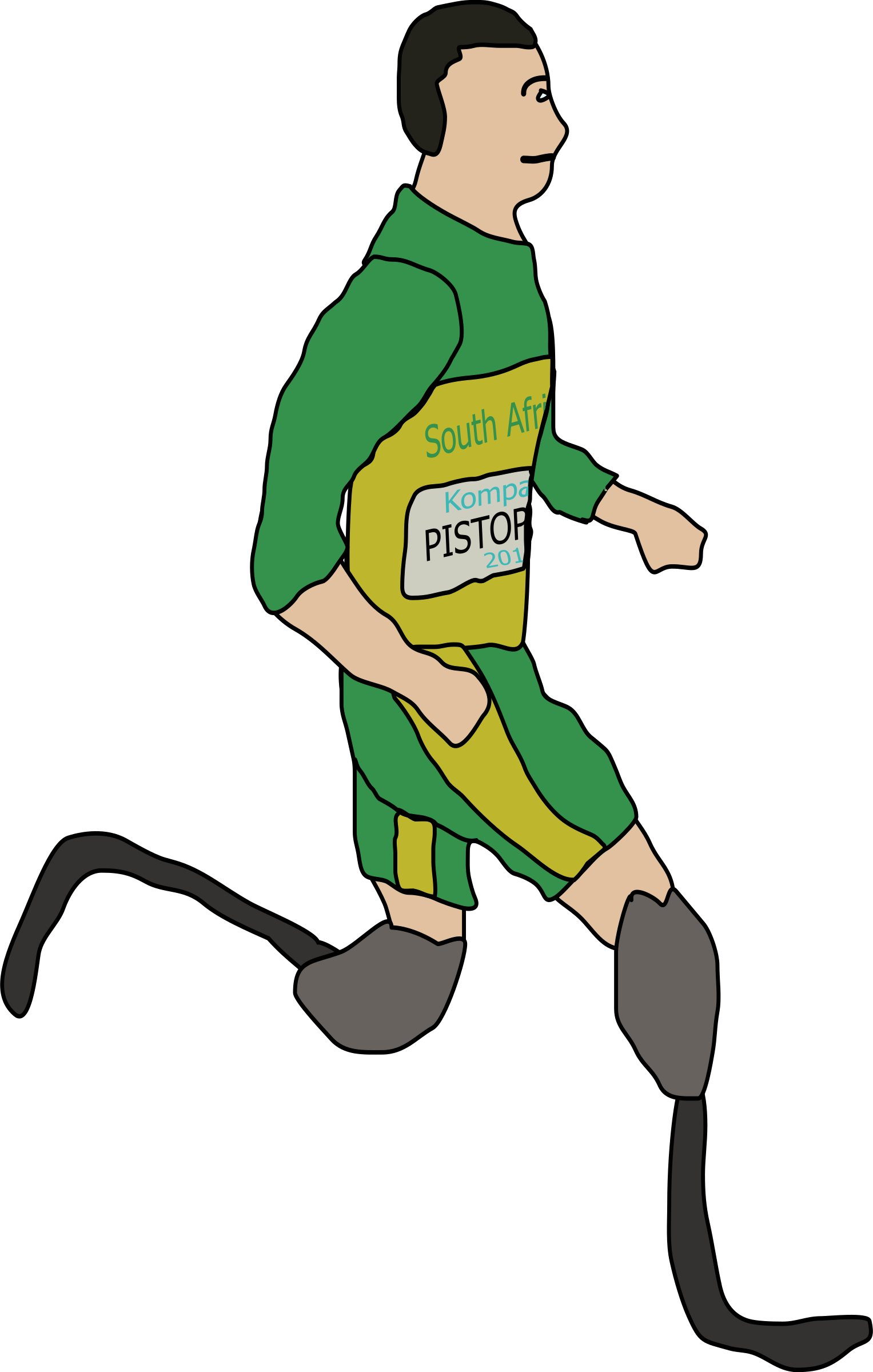 Runner clipart sprinter. Oscar pistorius amputee big