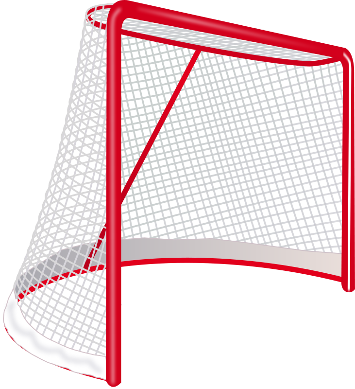 Hockey goal sports theme. Game clipart game room