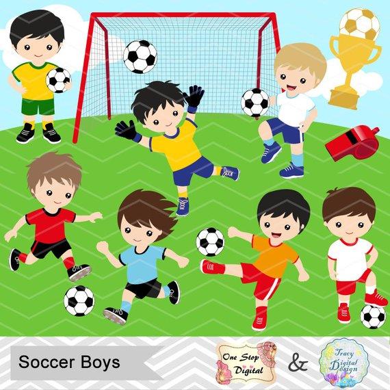 Digital boys boy clip. Sports clipart soccer