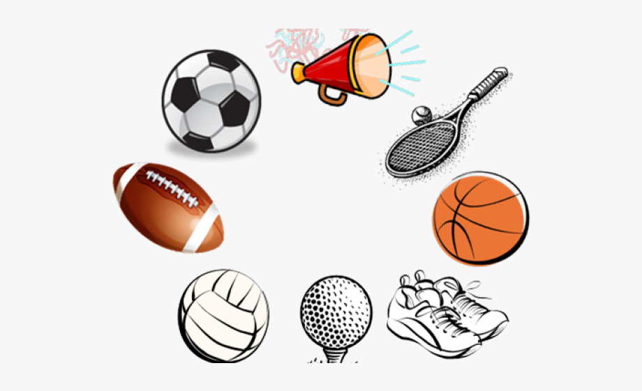 Clipart sports sports equipment. Girl sport fall clip