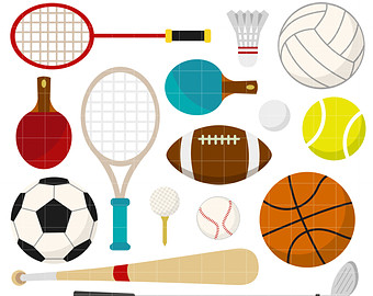 Clipart sports sports equipment. Free picture of download