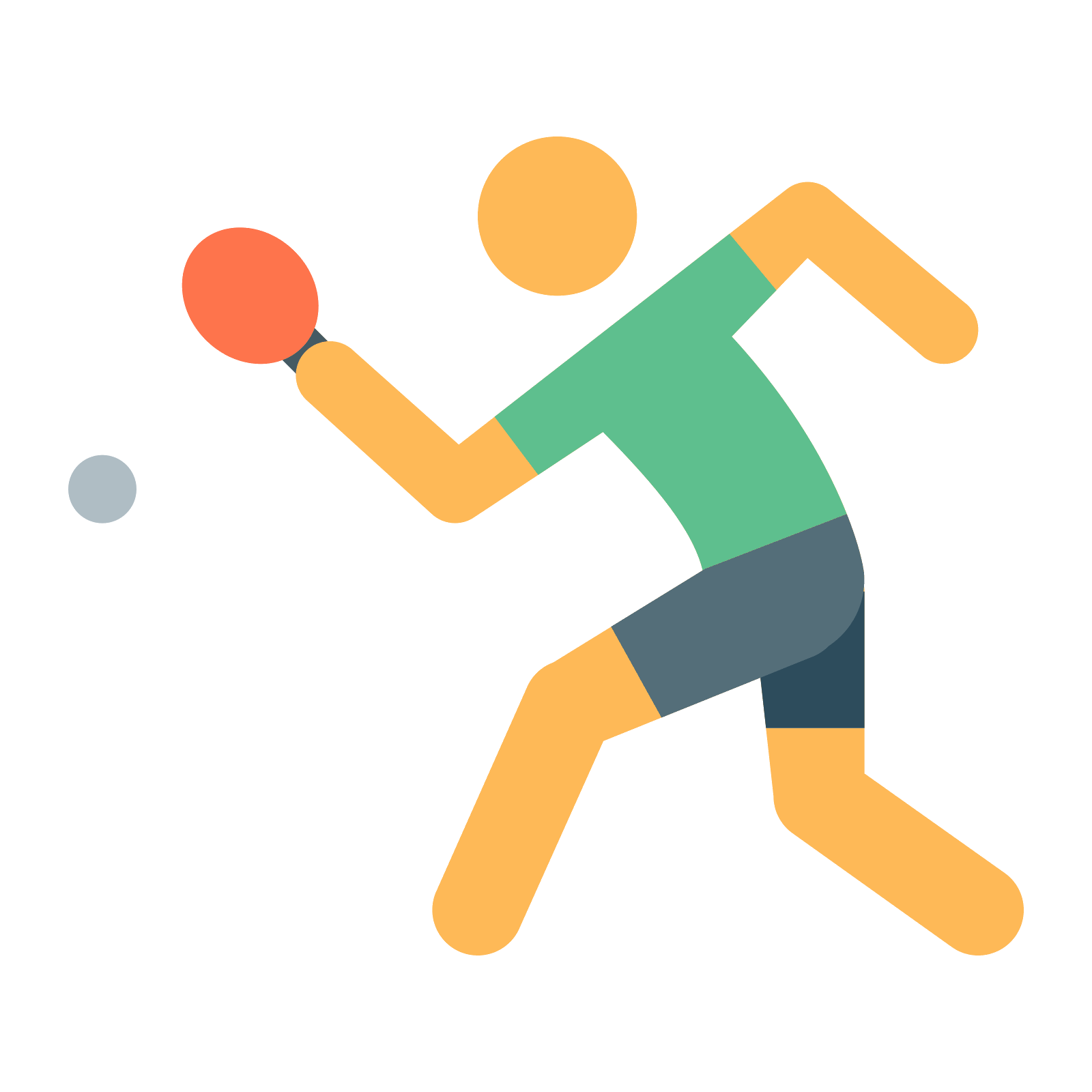 Table tennis icon free. Color clipart volleyball player