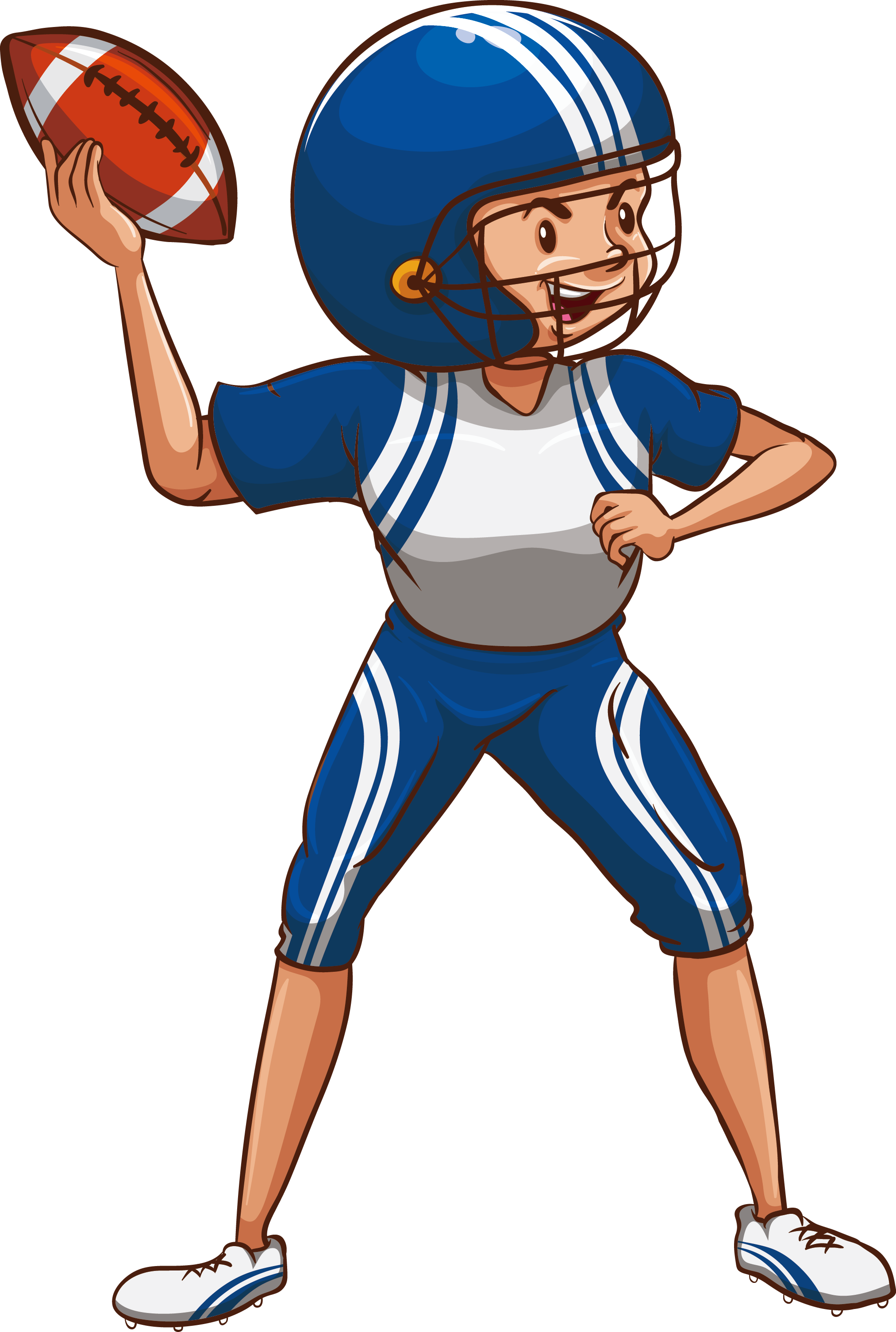 Muscle clipart football player. Sport child drawing female