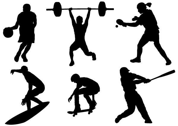 Sports clipart silhouette. Free sport vector download