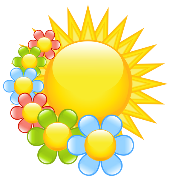 Clipart church spring. Sun with flowers pinterest