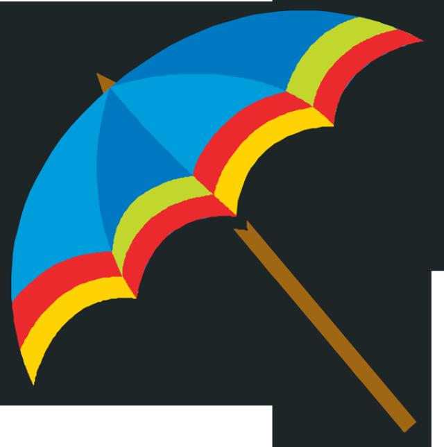 Clipart umbrella summer hat. April showers clip art