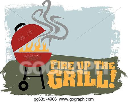Eps illustration fire up. Grilling clipart spring