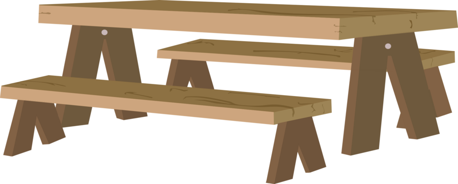 Desk clipart wood desk. Picnic table transparent background