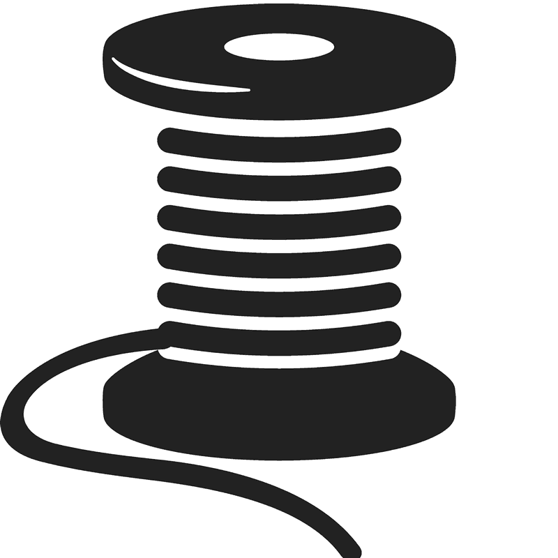 Of rubber stamp stamps. Sewing clipart spool thread