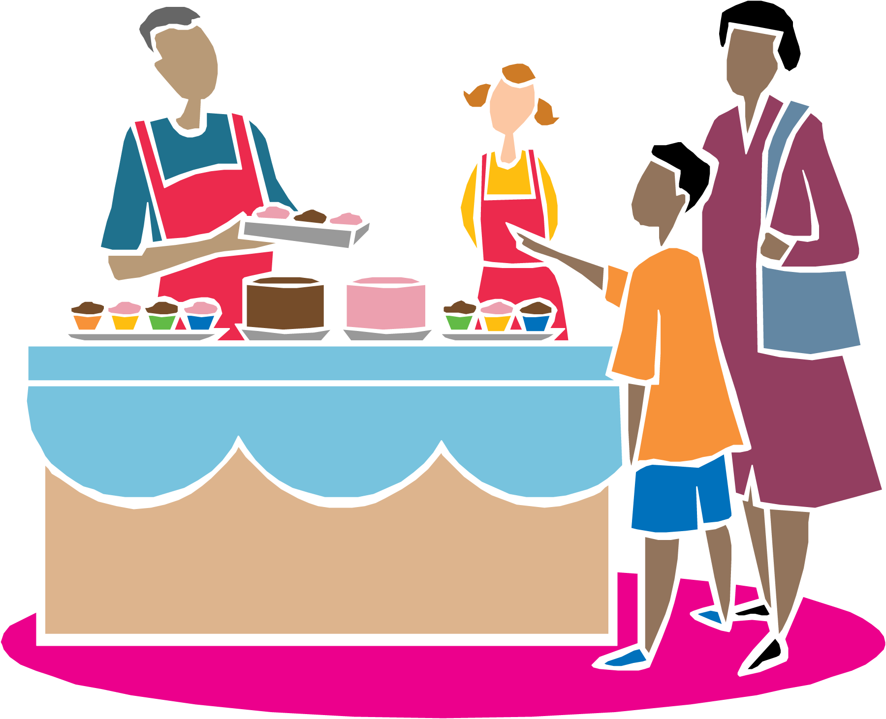 Fundraiser clipart summer. Crockpot and cakewalk this