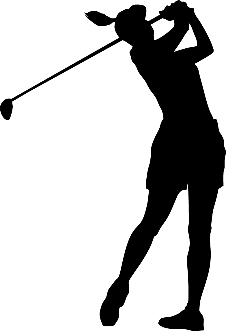 lady clipart golf