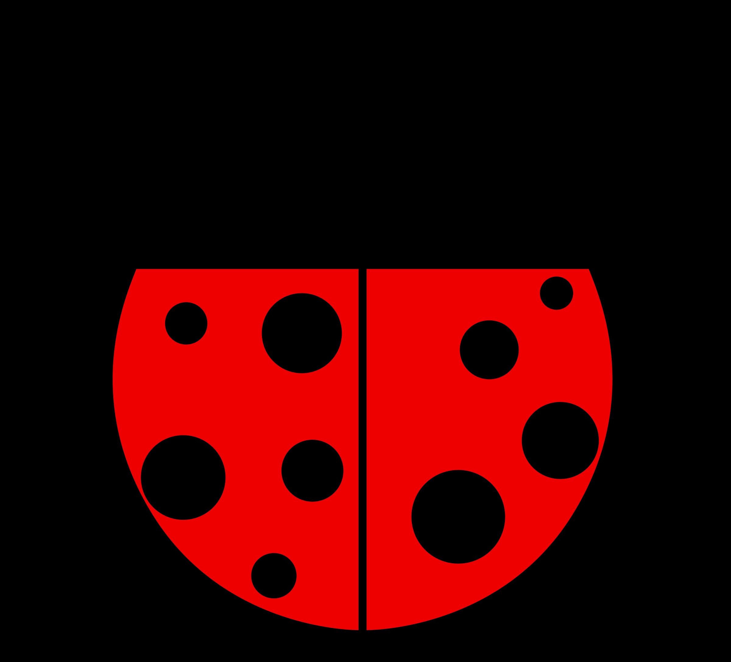 Ladybug clipart simple. Flat colors big image