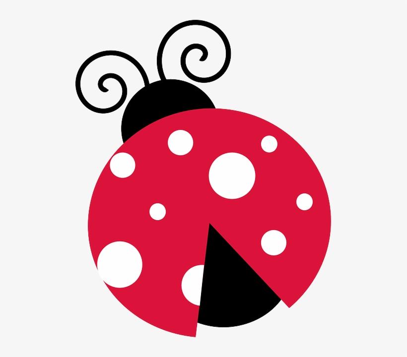 Lady white pink bug. Ladybug clipart spring