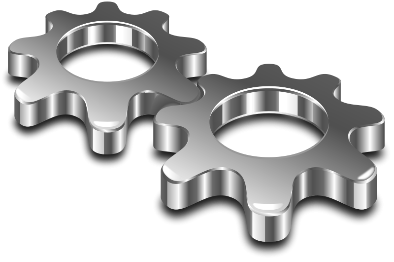 Metal clip art images. Gear clipart metallic