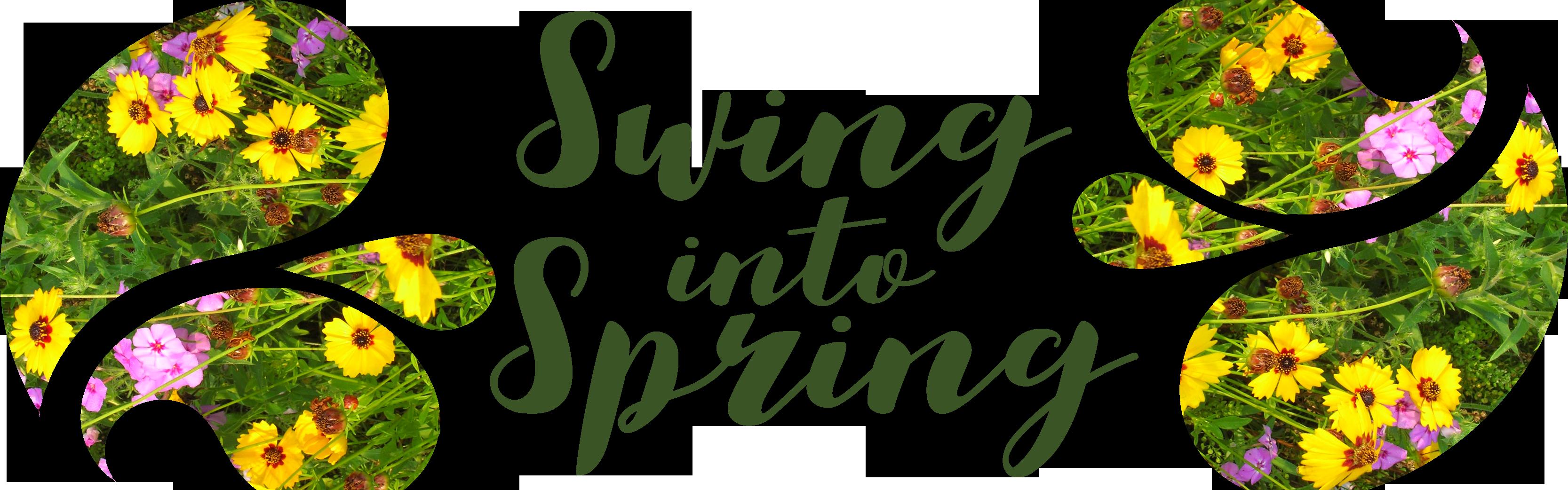 Facebook clipart header. Swing into spring paisley