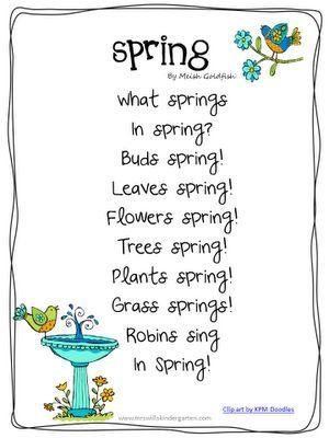 Poem clipart spring. Lesson plans for next