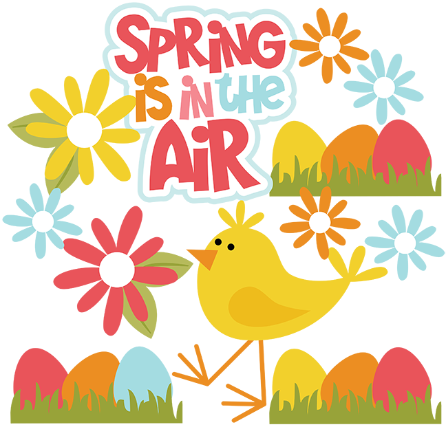 Is in the air. Scrapbook clipart spring