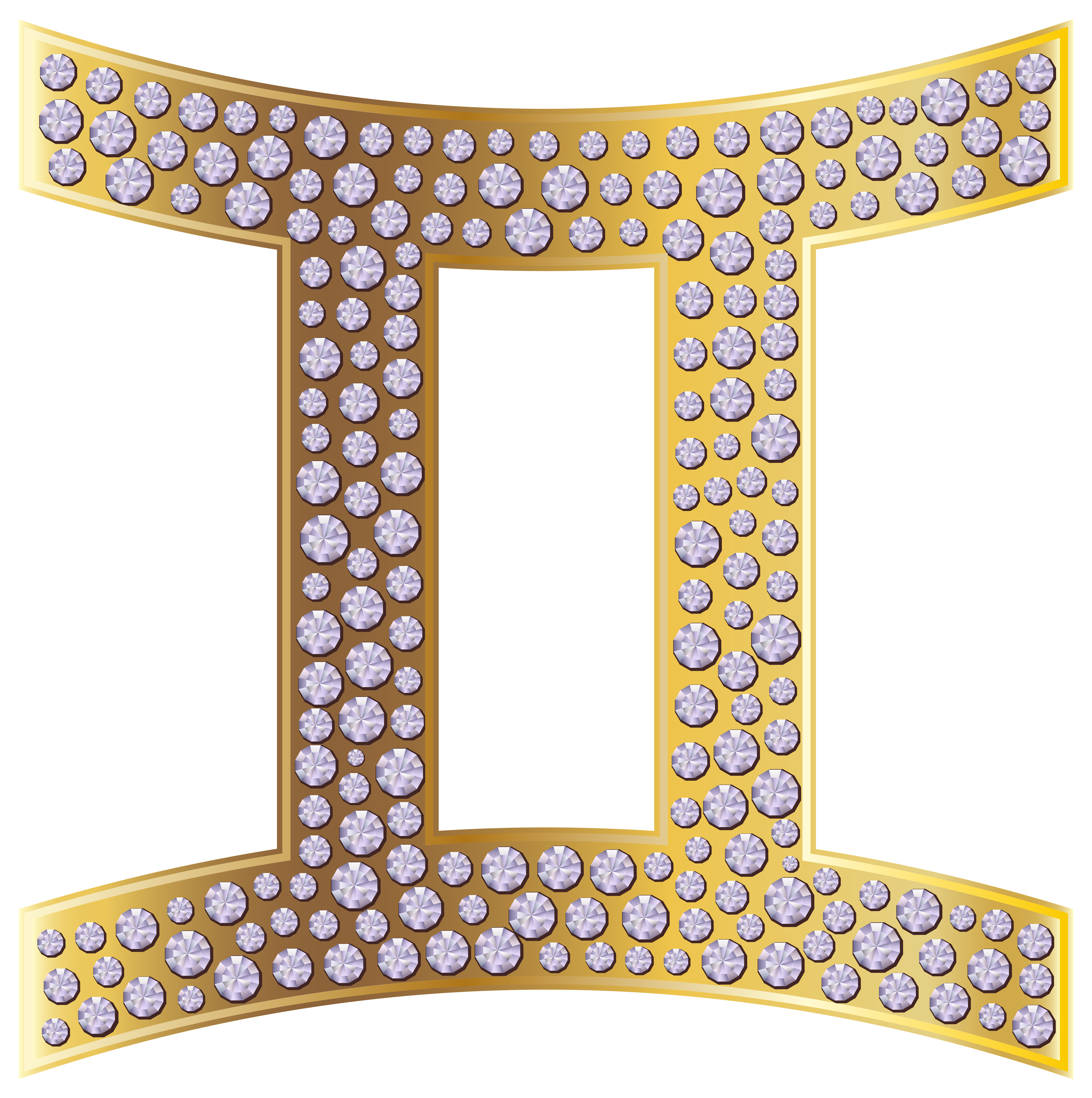 Gemini zodiac gold png. Clipart summer sign