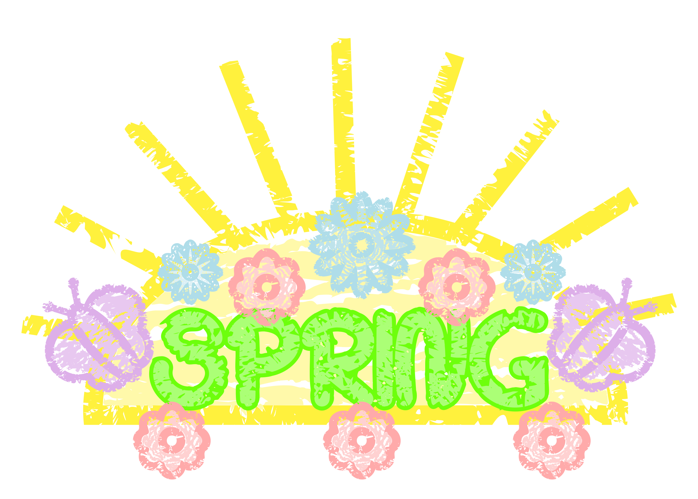 Spring art big image. Working clipart word
