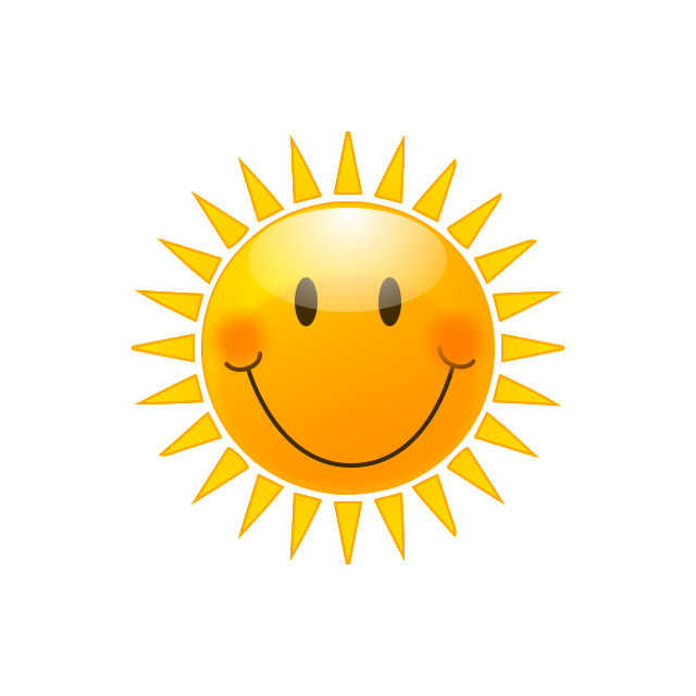 Clipart sun august. Sunshine round thing free