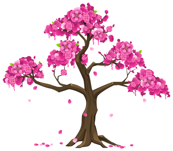 Pink png image graphics. Poetry clipart tree flower