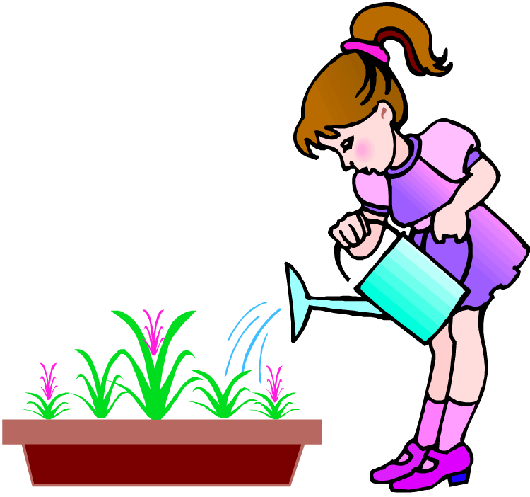 Our uses of water. Gardener clipart watering can