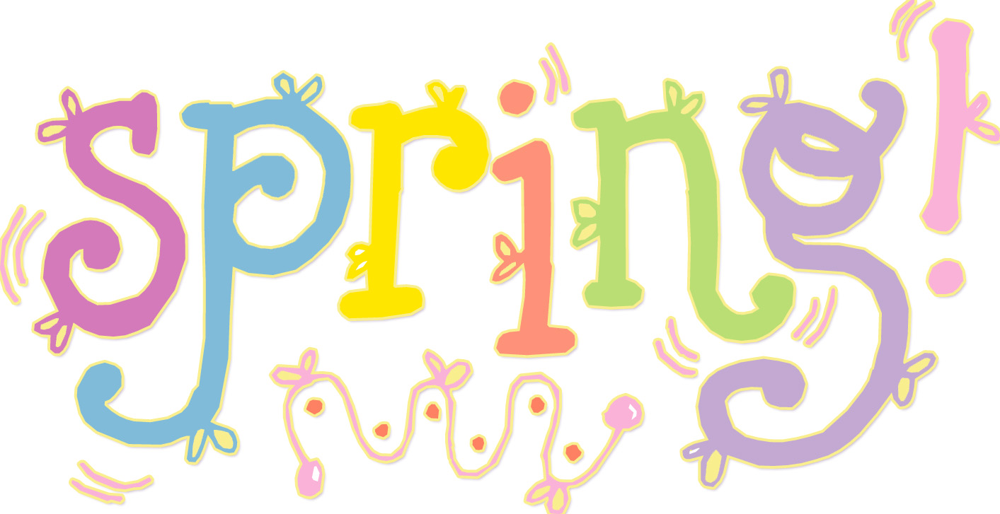 Free word cliparts download. Words clipart spring
