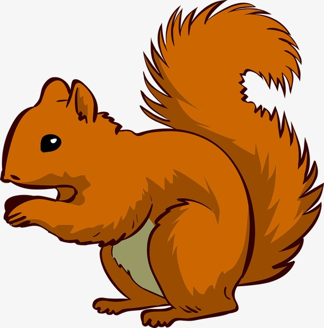 Clipart squirrel. Happy brown png image