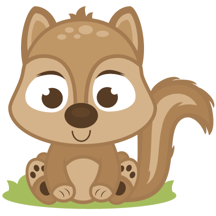 Svg cutting files deer. Clipart squirrel baby squirrel