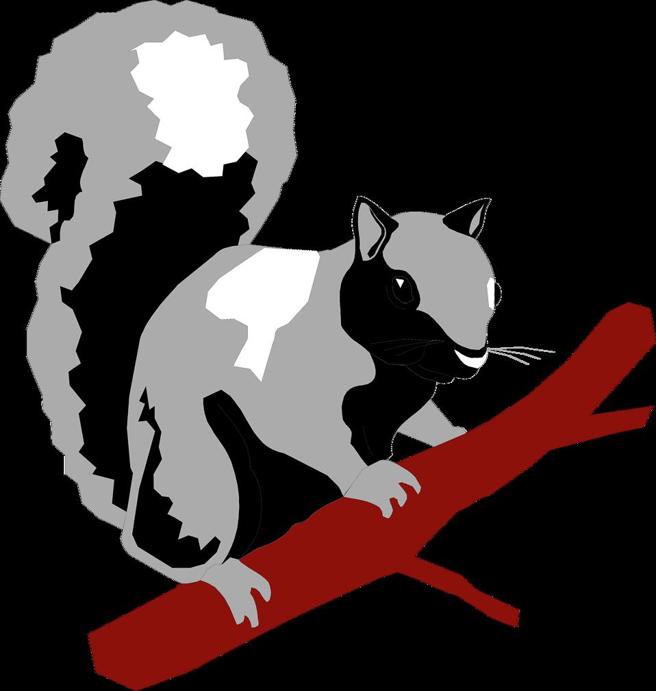 Free stock photo illustration. Footprints clipart squirrel