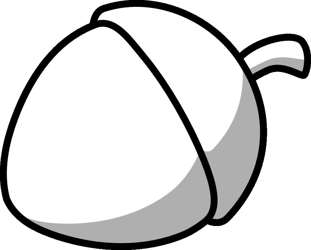 Acorn black and white. Clipart squirrel color