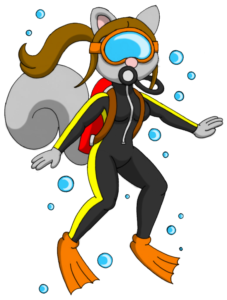 Gear clipart scuba diving. Squirrel by caseydecker on