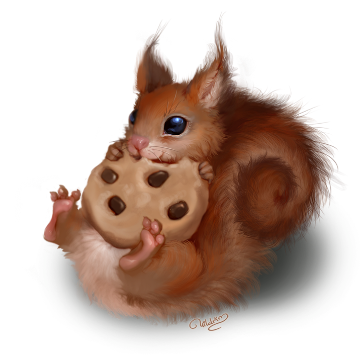 Cookie by nataly uildrim. Woodland clipart wildlife british