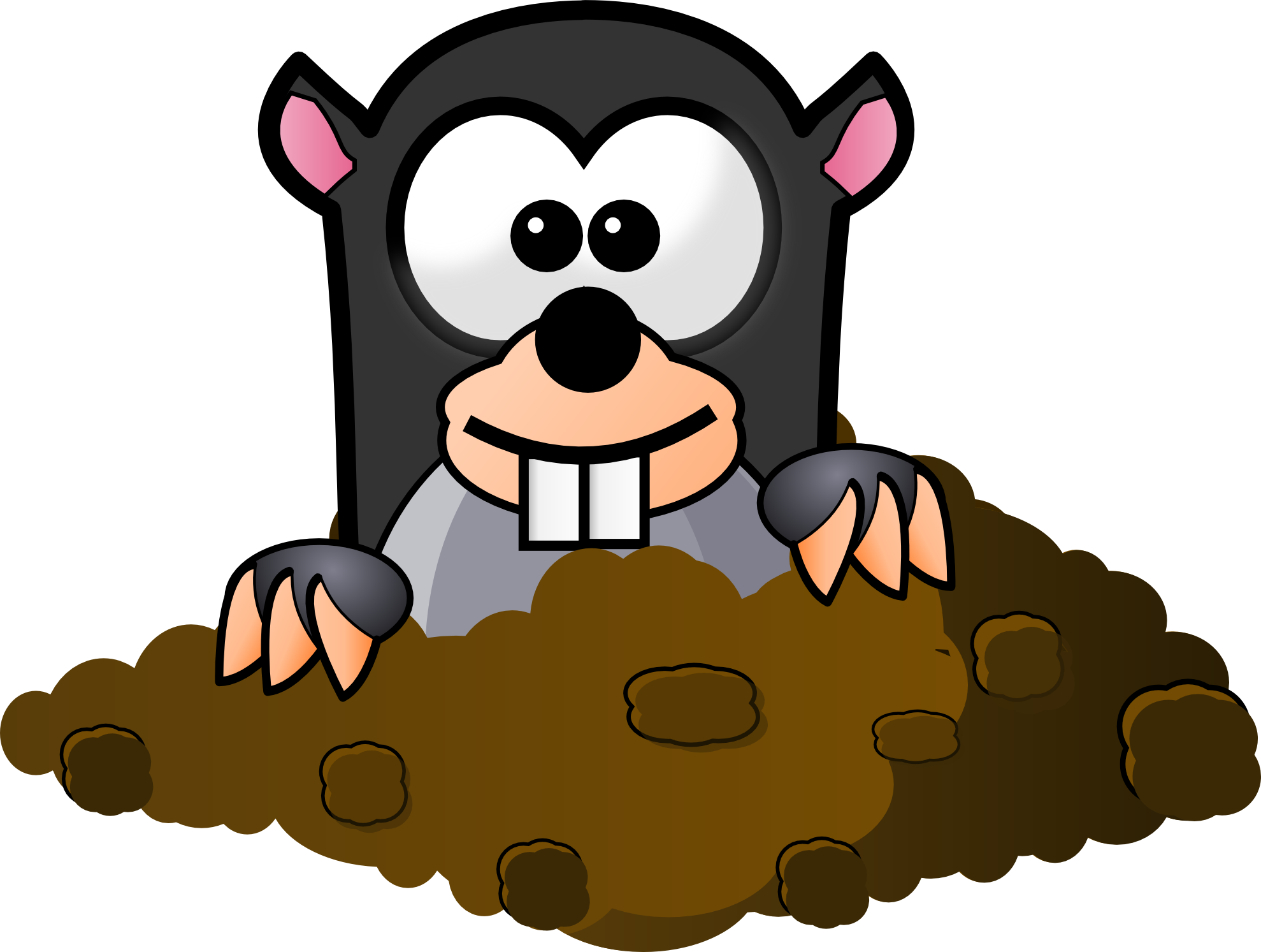 collection of mole. Dig clipart soil