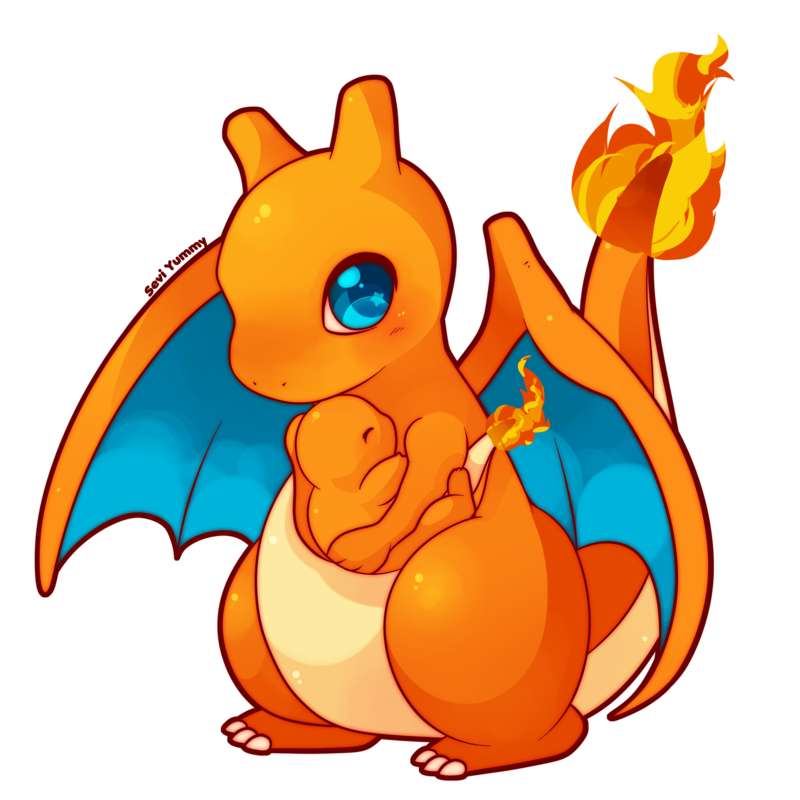 Chibi charizard and charmander. Pokeball clipart high resolution