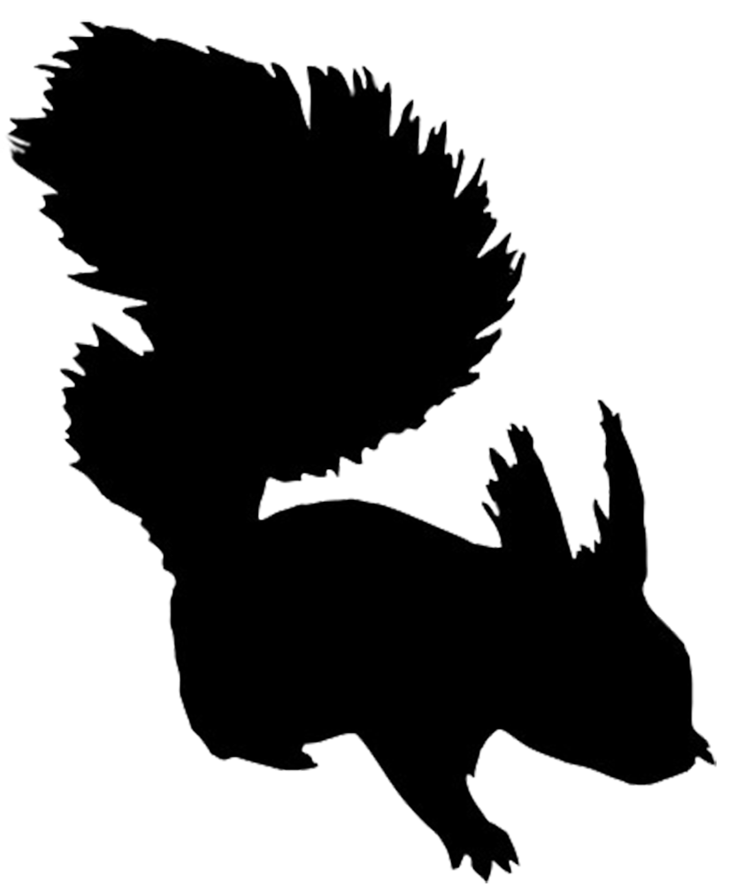 Silhouette squirrel at getdrawings. Hedgehog clipart two animal