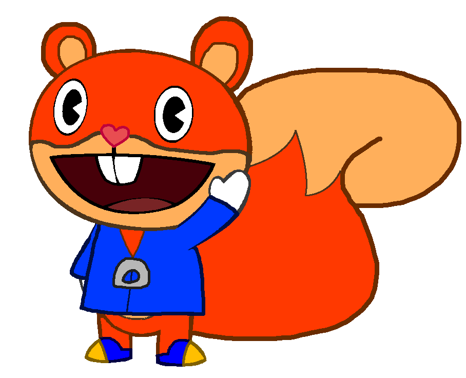 Clipart tree squirrel. Conker the happy friends
