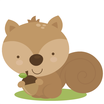 Free squirrel nursery cliparts. Woodland clipart small animal